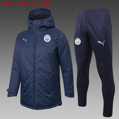 Manchester City 20/21 Winter Training Coat Navy H0046#