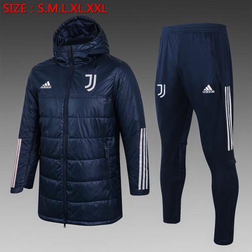 Juventus 20/21 Winter Training Coat - Navy