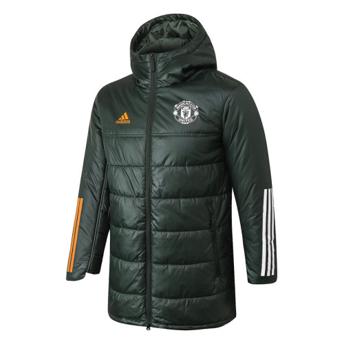 Manchester United 20/21 Winter Training Coat Army Green H0012#