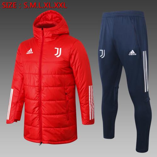 Juventus 20/21 Winter Training Coat Red - H0009#