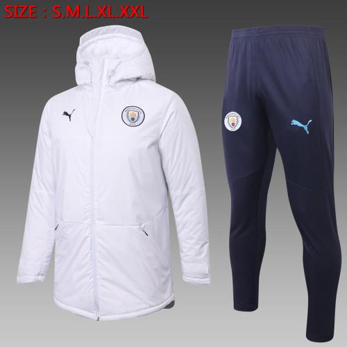 Manchester City 20/21 Winter Training Coat White H0037#