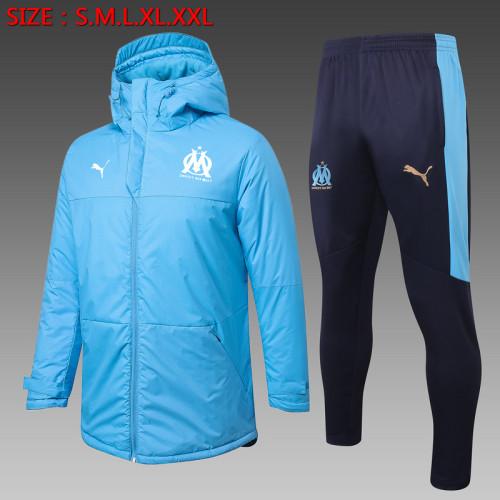 Olympique Marseille 20/21 Winter Training Coat Blue - H0032#