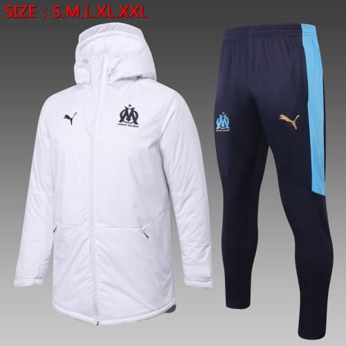 Olympique Marseille 20/21 Winter Training Coat White - H0036#