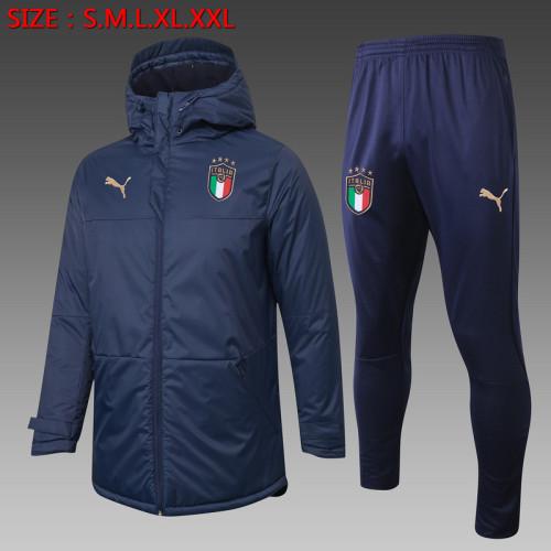 Italy 2021 Winter Training Coat - Navy