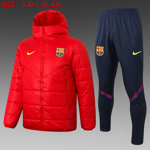 Barcelona 20/21 Winter Training Coat Red