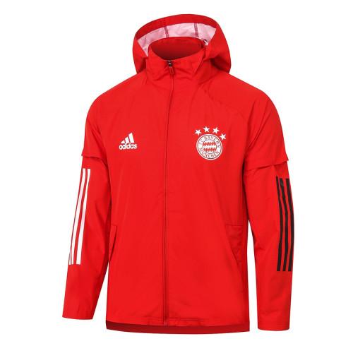 Bayern Munich 20/21 Windbreaker Red G067#