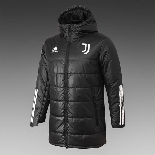 Juventus 20/21 Winter Training Coat Black - H0023#