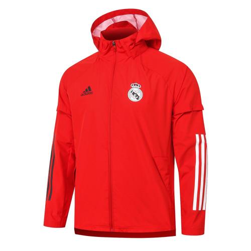 Real Madrid 20/21 Windbreaker Red G075#
