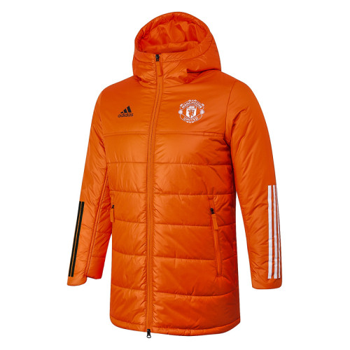 Manchester United 20/21 Winter Training Coat Orange H0025#
