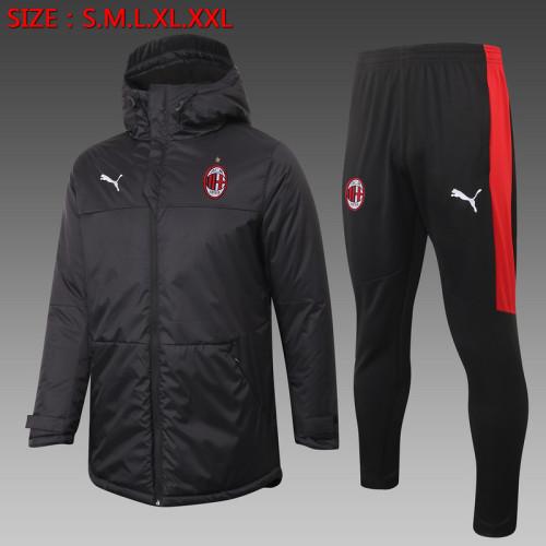 AC Milan 20/21 Winter Training Coat Black - H0039#
