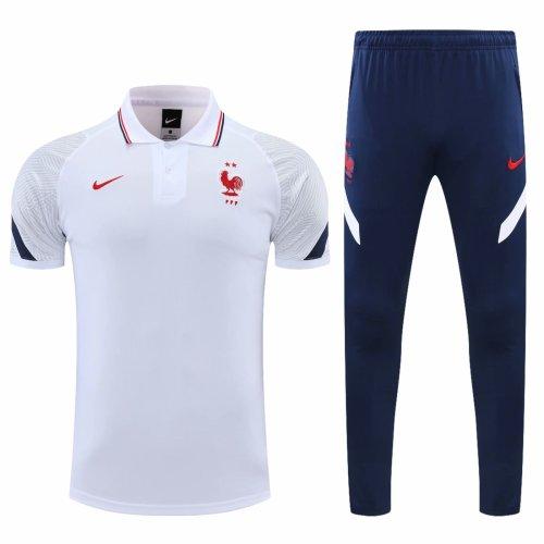 France 20/21 Polo and Pants Kits White