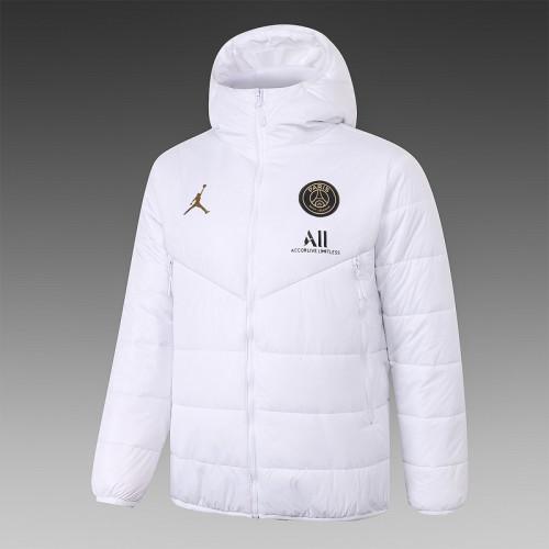 Paris Saint-Germain 20/21 Winter Training Coat White - H0073#