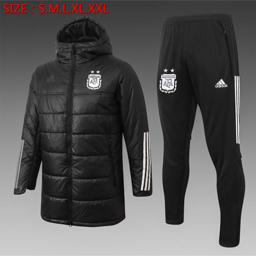 Argentina 2021 Winter Training Coat - Black