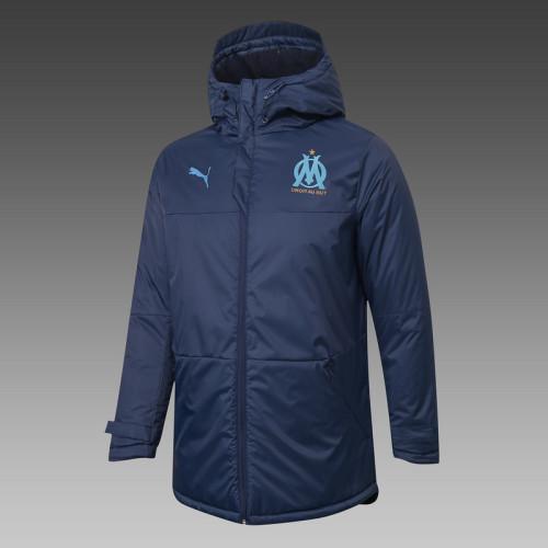 Olympique Marseille 20/21 Winter Training Coat Navy - H0047#