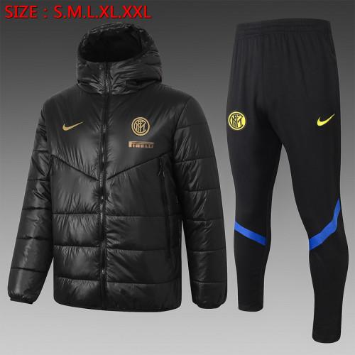 Inter Milan 20/21 Winter Training Coat Black - H0007#