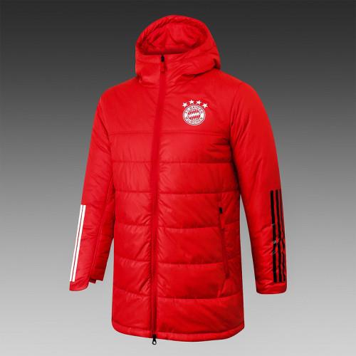 Bayern Munich 20/21 Winter Training Coat Red - H0028#