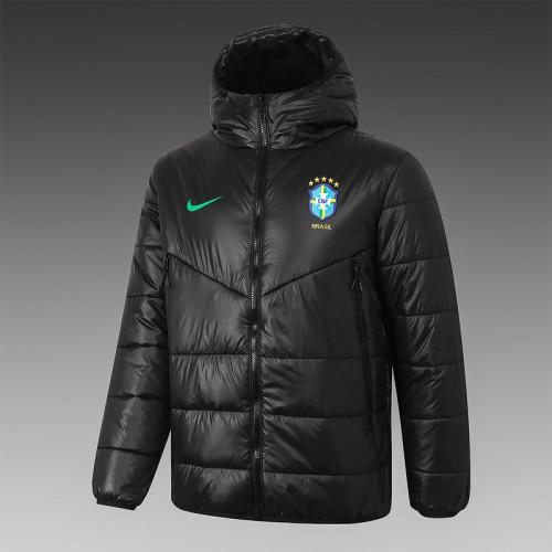 Brazil 2021 Winter Training Coat - Black