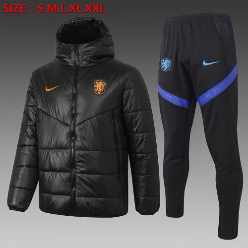 Netherlands 2021 Winter Training Coat - Black
