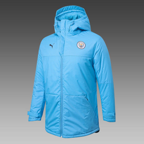 Manchester City 20/21 Winter Training Coat Blue H0006#