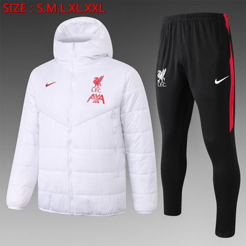 Liverpool 20/21 Winter Training Coat White