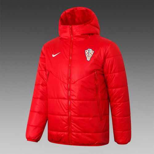 Croatia 2021 Winter Training Coat - Red