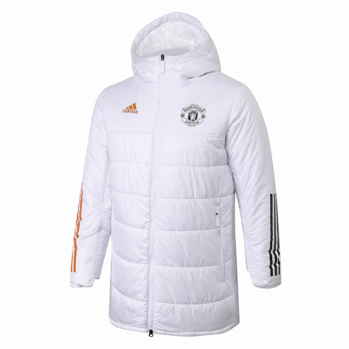 Manchester United 20/21 Winter Training Coat White H0016#