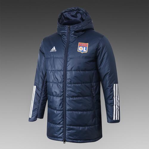 Olympique Lyonnais 20/21 Winter Training Coat Navy - H0004#