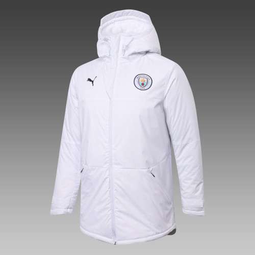 Manchester City 20/21 Winter Training Coat White H0037#