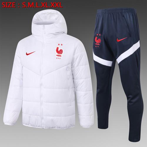 France 2021 Winter Training Coat - White
