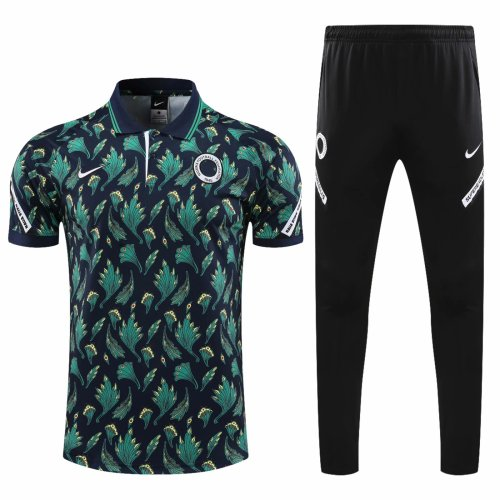 Nigeria 20/21 Polo and Pants Kits Black and Green