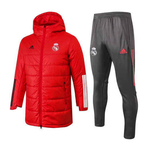 Real Madrid 20/21 Winter Training Coat Red H0027#