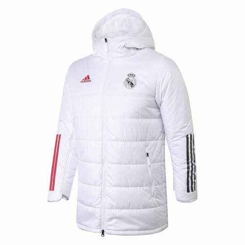 Real Madrid 20/21 Winter Training Coat White H0015#