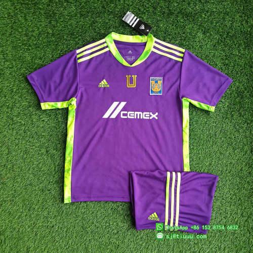 Tigres UANL 2021 Purple Goalkeeper Jersey and Short Kit