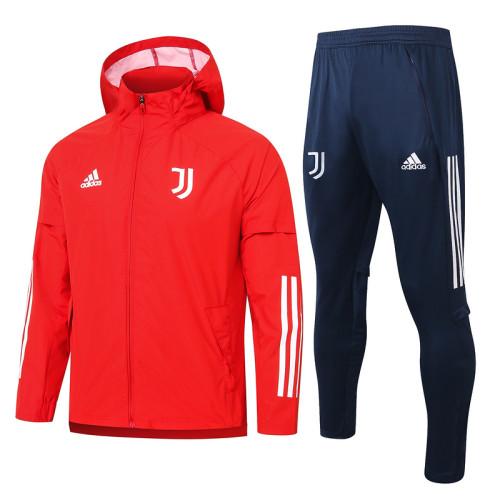 Juventus 20/21 Windbreaker Red G073#