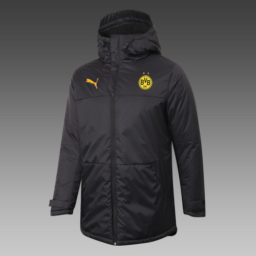 Borussia Dortmund 20/21 Winter Training Coat Black - H0041#