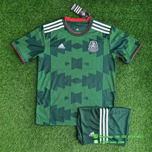 Mexico 2021 Home Jersey and Short Kit - Green