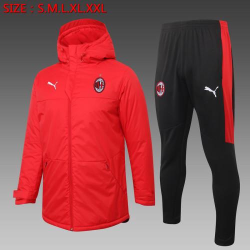 AC Milan 20/21 Winter Training Coat Red - H0042#