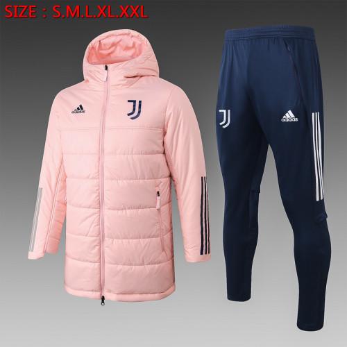 Juventus 20/21 Winter Training Coat Pink - H0011#