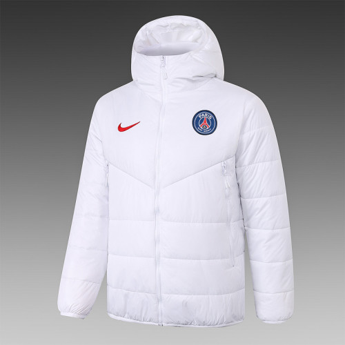 Paris Saint-Germain 20/21 Winter Training Coat White - H0074#