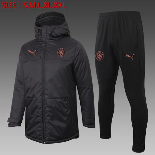 Manchester City 20/21 Winter Training Coat Black H0040#