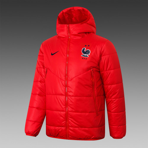 France 2021 Winter Training Coat - Red