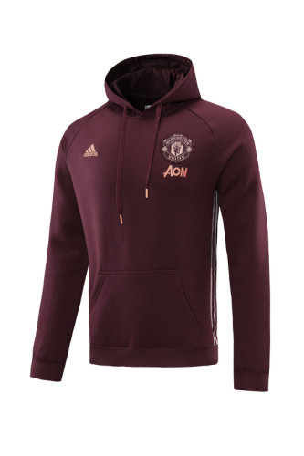 Manchester United 21/22 Training Hoodie Burgundy