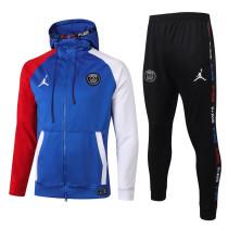 Paris Saint-Germain 20/21 Full-Zip Hoodie Tracksuit Bright Blue F272#