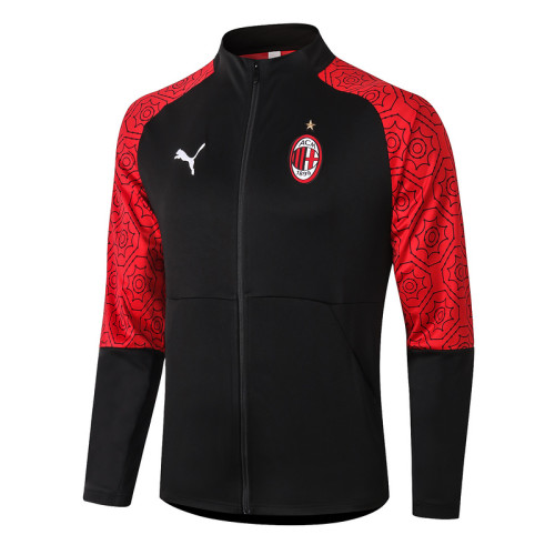 AC Milan 20/21 Jacket Tracksuit Black A381#