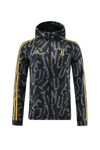 Juventus 21/22 Windbreaker Black and Grey