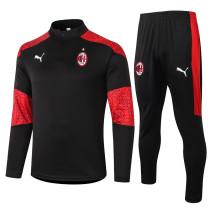 AC Milan 20/21 Drill Tracksuit Black B423#