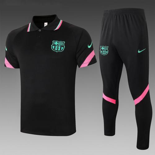 Barcelona 20/21 Pre-Match Polo Kit Black C561#