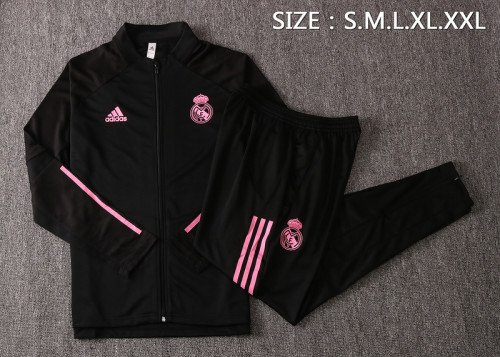 Real Madrid 20/21 Jacket Tracksuit Black A405#