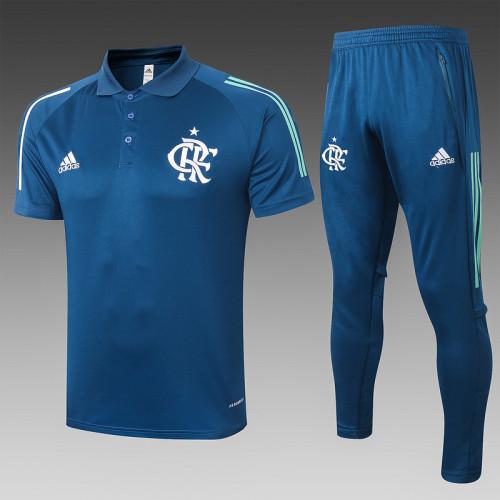 Flamengo 2020 Pre-Match Polo Kit Navy C459#