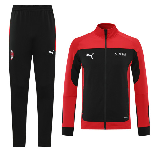 AC Milan 21/22 Jacket Tracksuit Red and Black CX04